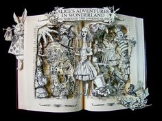 bookart - Alice in Wonderland
