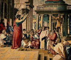 (Raphael) Raffaello Santi - Sermon of St. Paul in Athens