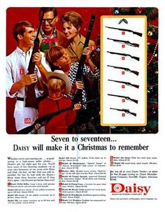 Santa brought guns for everyone! - Vintage Ad