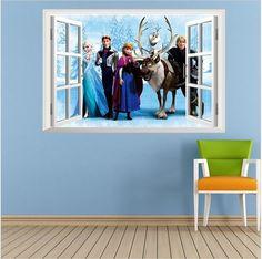 Erstaunliche Wandtattoo Für Kinderzimmer Die Eiskönigin FROZEN ELSA OLAF