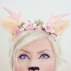 Who has their Halloween costume picked out and planned already? #pickme This fawn makeup is a favorite from last year. [link in profile] I have some ideas I am super excited to try this year if I can get a break between moving. Who wants some new DIY costume ideas? Any requests? #halloweenmakeup