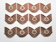 Chevron Embroidered Technical Sct US Air Force Desert 12 lot 5 stripes Patches