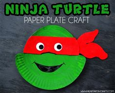 Ninja Turtle Paper Plate Craft for kids
