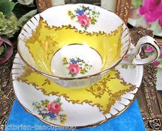 ROYAL-STAFFORD-TEA-CUP-AND-SAUCER-YELLOW-FLORAL-PATTERN-TEACUP-GOLD-GILT