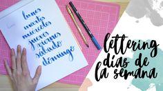 Lettering: días de la semana - Tutorial bullet journal - UGDT