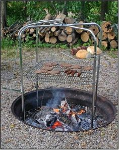 Amazon.com: Quad Pod Campfire Grill: Sports & Outdoors