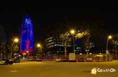 There's no other building like the Agbar Tower!  Have you ever seen such a colorful & glowing building?  #Barcelona #GowithOh