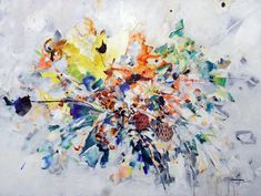 Pluie pour J. - Galerie Perreault   #Art #Artiste #Artist #Paysage #Quebec #GalerieDart #ArtGallery #Artwork #Painting #Peinture #abstractart #abstractpainting Artgallery, Galerie D'art, Abstract Art, Painting, Artwork, Splash Of Colour, Rain, How To Paint, Board