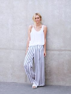 10 Fresh Ways To Pull Off Stripes This Summer via @WhoWhatWear