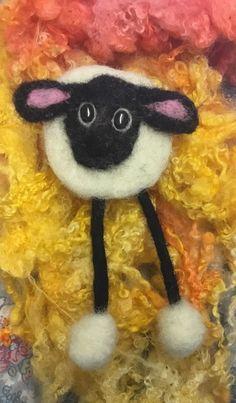 Handmade Needle Felted Brooch Sheep £7.50