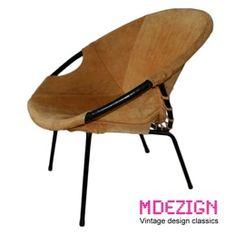http://www.mdezign.info 1x Balloon chair    Design: Erik Ole Jørgensen style    Manufacturer: Lusch & Co    Design year:1960's    Color: Suede wild leather    Condition: Good Vintage
