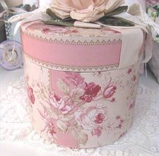 site has different ideas on decorating hat boxes
