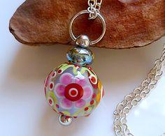 LinaFIRE | Lampwork - Lampwork Bead changeable pendant Fall Jewelry, Beaded Jewelry, Diy Jewelry, Jewellery, Polymer Clay Beads, Lampwork Beads, Handmade Beads, Handmade Jewelry, How To Make Beads