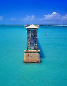 Bridge at Bahia Honda Key State Park, Florida - it had the most amazing bluest warmest waters!