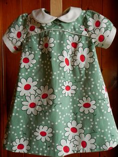 I will need more practice before I would be brave enough to make this. Oliver + S Puppet Show pattern (discontinued) Little Girl Outfits, Little Girl Dresses, Kids Outfits, Girls Dresses, Sewing Kids Clothes, Sewing For Kids, Diy Clothes, Love Sewing, Baby Sewing