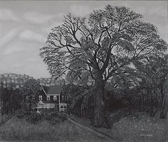 John Kane The Old Elm, 1927-28 oil. Met Museum. Gift of Adelaide Milton DeGroot, 1967. Accession number 166.