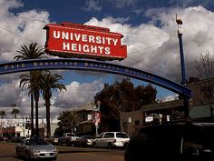 My neighborhood sign for University Heights in San Diego.
