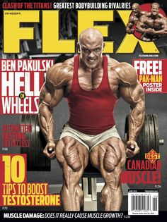 Flex Magazine cover June 2012 featuring Ben Pakulski #fitness #bodybuilding #exercise