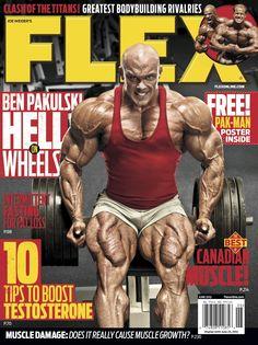 Flex Magazine cover June 2012 featuring Ben Pakulski #fitness #bodybuilding #exercise