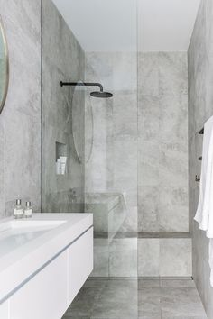 Ensuite - integrated seat in shower