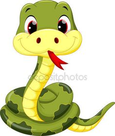 Illustration about Vector illustration of cute baby snake cartoon. Illustration of comic, colorful, exotic - 66170606 Art Drawings For Kids, Cartoon Drawings, Animal Drawings, Cartoon Art, Baby Cartoon, Snake Drawing, Snake Art, Cute Cartoon Animals, Baby Animals