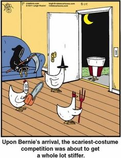 Halloween Quotes : Halloween Funnies Costume Party I just love chicken jokes my favorite topic Halloween Cartoons, Theme Halloween, Funny Halloween Costumes, Halloween Witches, Couple Halloween, Halloween 2019, Haha Funny, Funny Memes, Hilarious