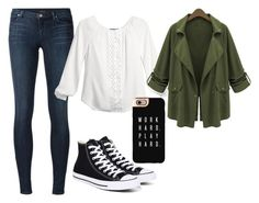 """""""Chic"""" by emmafetzer on Polyvore featuring J Brand, White House Black Market, Chicnova Fashion, Converse and Casetify"""