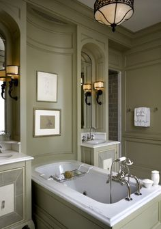 Beautiful Paneled Bath