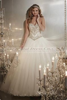 Christina Wu Style 15574 - Full tulle ball gown with bead detailing on the Basque-waist bodice with a sweetheart neckline. Stunning Wedding Dresses, 2015 Wedding Dresses, Glamorous Wedding, Wedding 2015, Wedding Dress Styles, Bridal Dresses, Wedding Gowns, Sparkly Wedding Dresses, Wedding Dress Sparkle