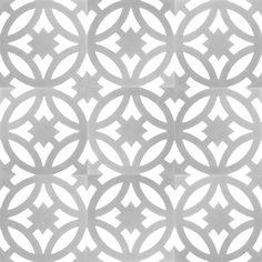 Zementfliesen von Articima: Zementfliese Nr. 207, grau, weiss