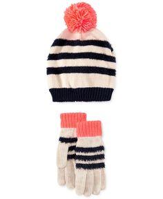 Osh Kosh Little Girls' Pom Hat & Glove Set