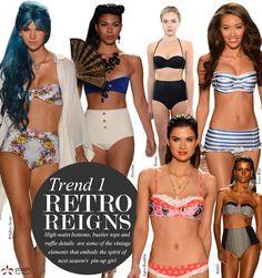 2013 Swimwear Trends from Mercedes-Benz Fashion Week Swim - Mercedes-Benz Fashion Week - Zimbio Blue Bandeau Bikini, Bikini Tops, Mercedes Benz, Retro Bathing Suits, Retro Swimwear, Swimwear Model, Summer Swimwear, Spring Summer Trends, Summer Fun