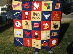 Finished the quilt for my Daughter's Christmas gift - She LOVES Harry Potter