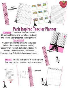 Kindergarten Classroom, Classroom Themes, Classroom Organization, Teacher Binder, Teacher Planner, Lesson Plan Format, Lesson Plans, Planner Pages, Weekly Planner
