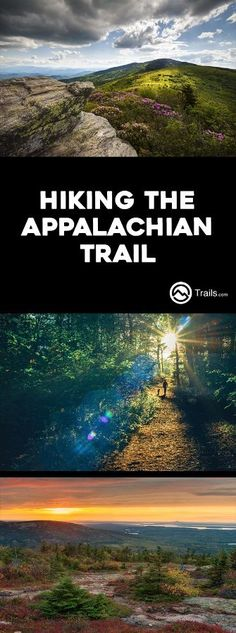 The Appalachian Trail traverses the Appalachian Mountain Range for over miles from Springer Mountain in Georgia to Mount Katahdin in Maine. This well-maintained National Scenic Trail winds its way through fourteen eastern states (Georgia, North Caro Thru Hiking, Camping And Hiking, Hiking Trails, Hiking Usa, Backpacking Trails, Rv Camping, Camping Ideas, Mountain Hiking, Mountain Range