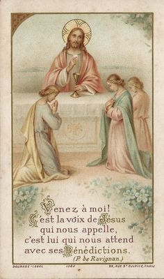 Come to Me! It is the voice of Jesus who calls us, of Him who awaits us with His blessing. P. de Ravignan  Prepare their hearts for First Holy Communion.