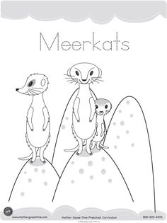 Meerkat Coloring Pages Printable For Fun - Kids Colouring Pages