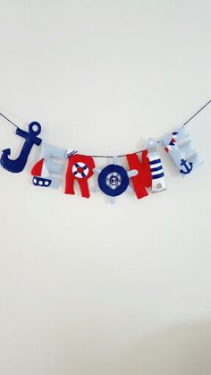 Nautical theme name banner