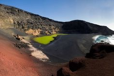 El Golfo, #Lanzarote made it into our list of the 10 strangest beaches in the world http://www.globehunters.com/Blog/Top-10-Worlds-Strangest-Beaches.htm