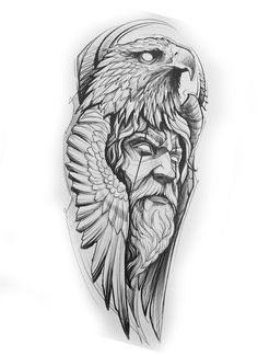Thor Tattoo, Norse Tattoo, Lion Head Tattoos, Cool Forearm Tattoos, Leg Sleeve Tattoo, Best Sleeve Tattoos, Tattoo Design Drawings, Tattoo Designs Men, Armband Tattoo Design
