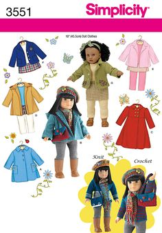 Doll Patterns I have Simplicity on Pinterest | Doll Clothes, 18 Inch ...