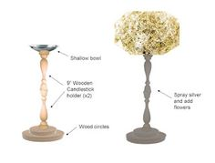Harlow & Thistle: DIY Wedding topiary from Dollar Store candle holders.