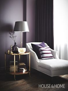 Amazing Interior Room Design with Purple Walls - Architecturehd Purple Rooms, Purple Walls, Dark Purple Bedrooms, Plum Walls, Purple Living Rooms, Purple Wall Paint, Purple Master Bedroom, Purple Bedroom Design, Purple Yellow