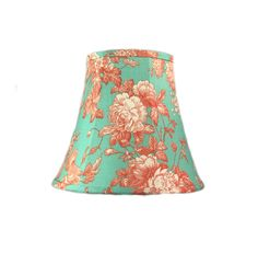 Aqua Lamp Shade, Floral Lamp Shade, Shabby Chic Lamp Shade, Boho Lamp Shade, Eclectic Lamp Shade, FREE SHIPPING-Continental USA