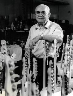 Leo Fender inventor of the Telecaster and Stratocaster could not play guitar. Gretsch, Fender Guitars, Bass Guitars, Electric Guitars, Rock N Roll Music, Rock And Roll, Gibson Les Paul Tribute, Leo Fender, Guitars