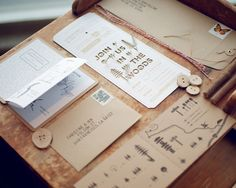 wedding invitations by wood and grain