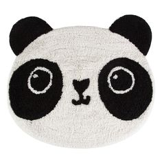 Sass and Belle Teppich Kawaii Panda aus Baumwolle in Schwarz Panda Face, Panda Kawaii, Kawaii Anime, Panda Lindo, Decorative Pebbles, Sass & Belle, Best Baby Gifts, Head Shapes, Floral Pillows