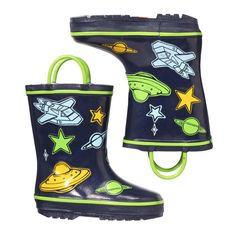 Toddler Boys' Spaceship Rain Boots in Navy from Joe Fresh