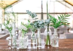Image result for banquet tables centerpieces eucalyptus