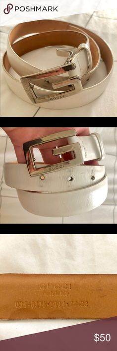 6db0f558b Vintage Gucci belt - white Vintage authenticated Gucci belt. White. Size  small. It